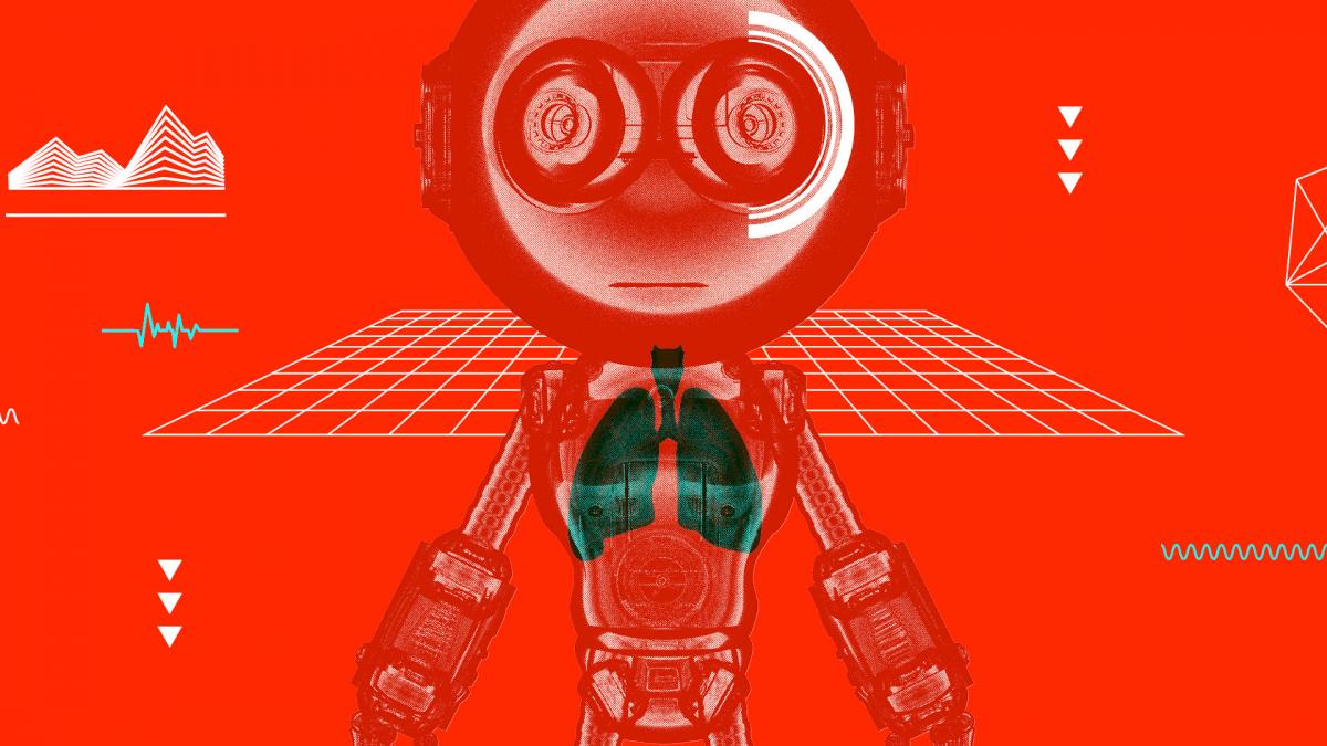Toy robot graphic