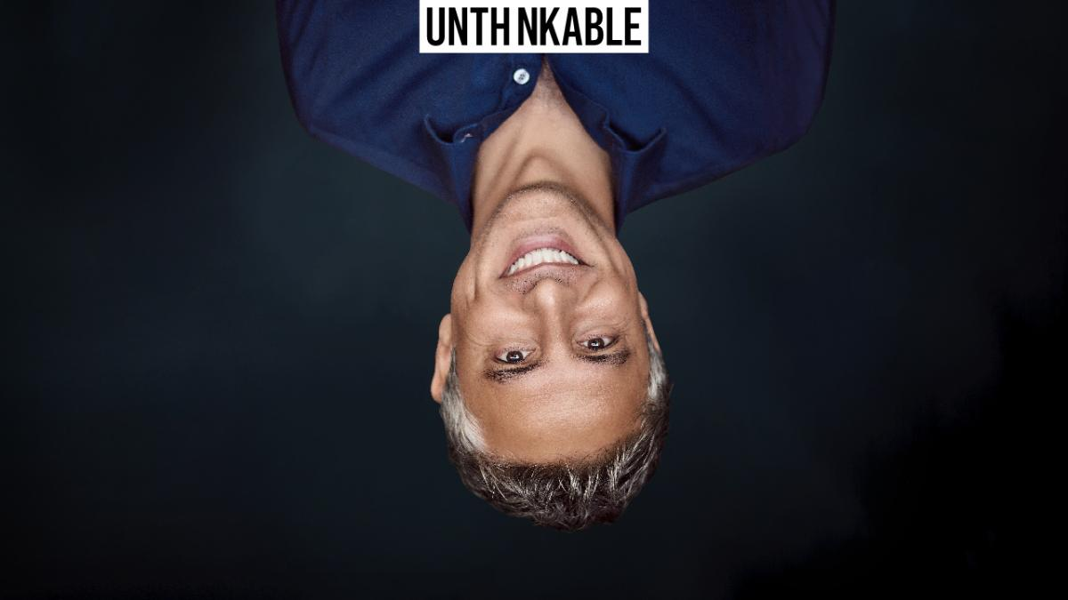 Reza Aslan portrait unthinkably upside down